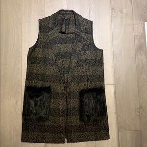 ZARA Tweed vest